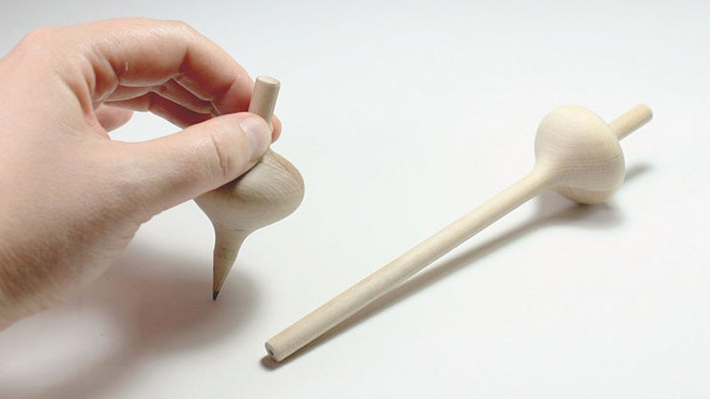These Pencils Eventually Sharpen Into Spinning Tops