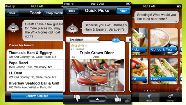 Alfred for iPhone Learns Your Dining Preferences Then Tells You Where to Eat