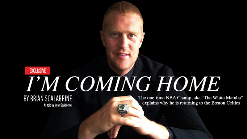 """Brian Scalabrine Writes """"Coming Home"""" Letter To Join Celtics Broadcast"""