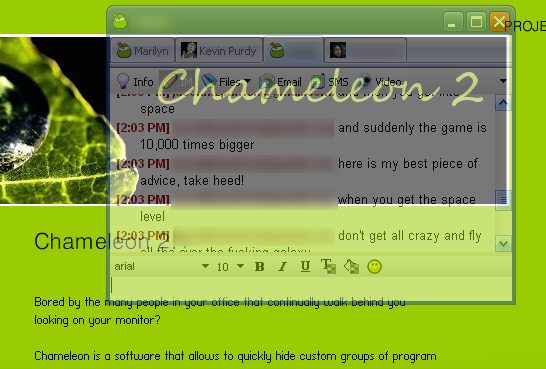 Chameleon Blends Your Goofing Off into the Background
