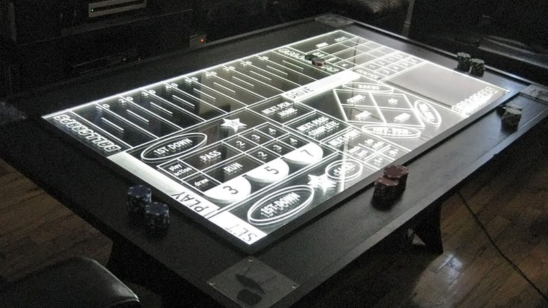 Bet On Every Single Football Play With This Beautiful Edge Lit Table