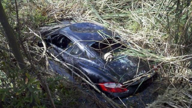 Hiker finds Porsche left in a lagoon