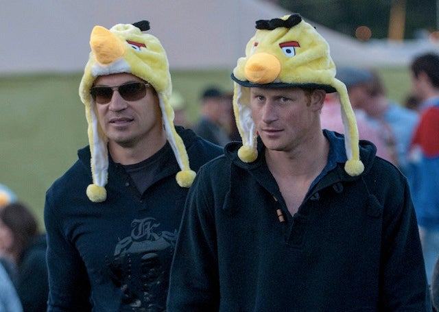 Oh Hey Look It's Prince Harry In An Angry Birds Hat