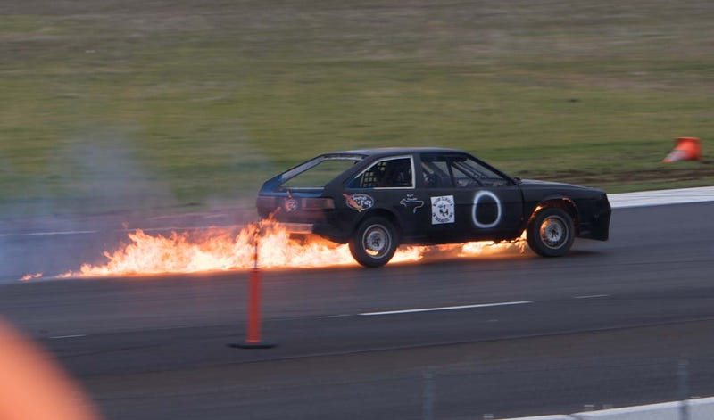 Squirrels Of Fury Scirocco Ventilates Engine Block, Goes Out In Blaze Of Glory