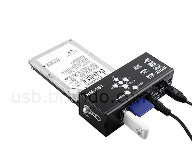 Adapter Turns Any Hard Drive Into An HD Player For Your TV