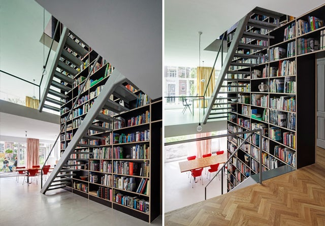 This Dream House Was Entirely Built Around a Giant Three-Story-High Bookshelf