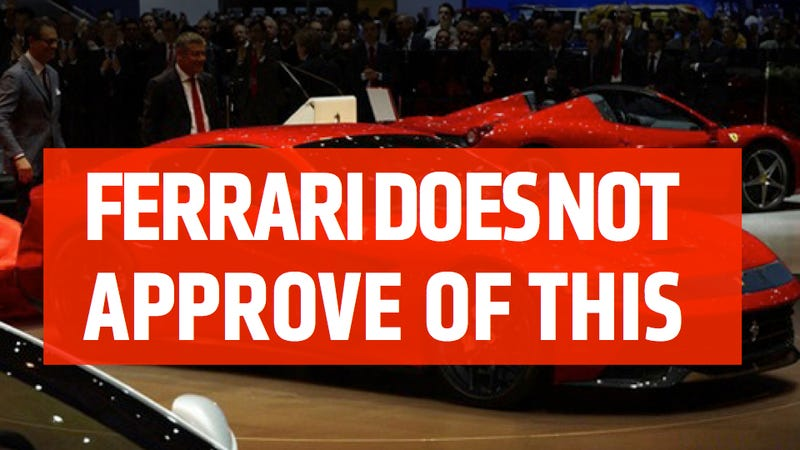 If Ferrari Doesn't Approve Of Your Design Their Lawyers Will Make Your Website Disappear