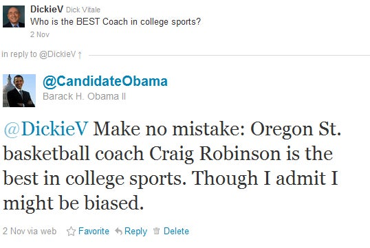 Dick Vitale Was Duped By A Fake Obama Twitter Account