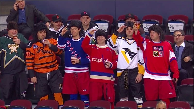 These Fans At The Saddledome Last Night Are True Jagr Meisters