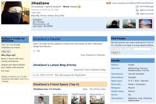 The Strange Case of Jihad Jane, Blonde Terrorist from Pennsylvania and MySpace
