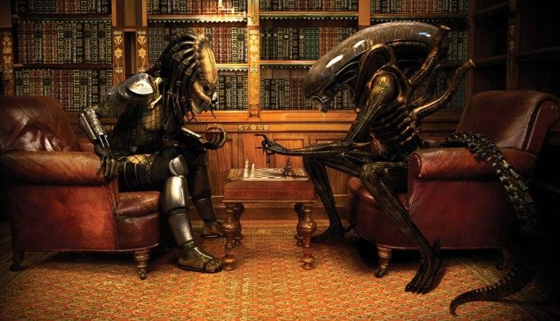 Alien vs Predator Poster Reminds Me of Kasparov vs Karpov