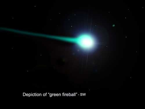 Did you see this bright green light zooming overhead earlier this week?