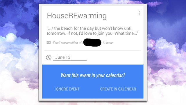 """Google Now Adds """"Inferred Events,"""" Suggests Calendar Events From Email"""