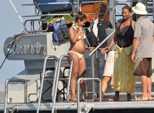 Alicia's Bikini Baby Bump Gets Sized Up By Latifah