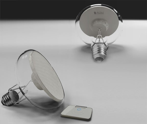 Light Bulb Speakers Put Sound In Your Lamps