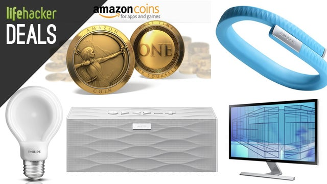 $10 In Free Amazon Coins, Samsung 4K Monitor, iTunes Cash, Jawbone