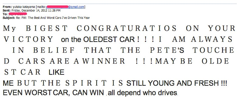 The 103-Year-Old Mr. K Upon Hearing A Datsun 510 Was Named A Jalopnik 'Best Drive'