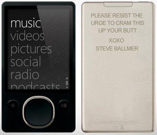 What Is the Most Ridiculous iPod/Zune Engraving You Can Think Of?