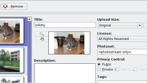 Easily upload images to Flickr with Kflickr