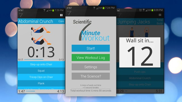 Scientific 7 Minute Workout Makes Your Android Phone an Exercise Guide