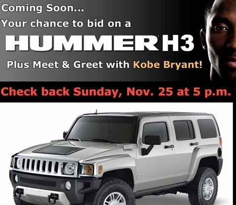 Kobe Announces His Hummer Auction to Middle Schoolers