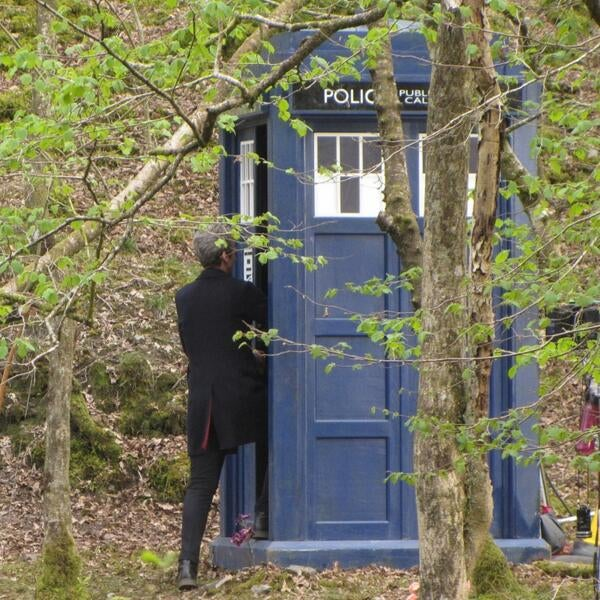several more clips from recent Doctor Who filming