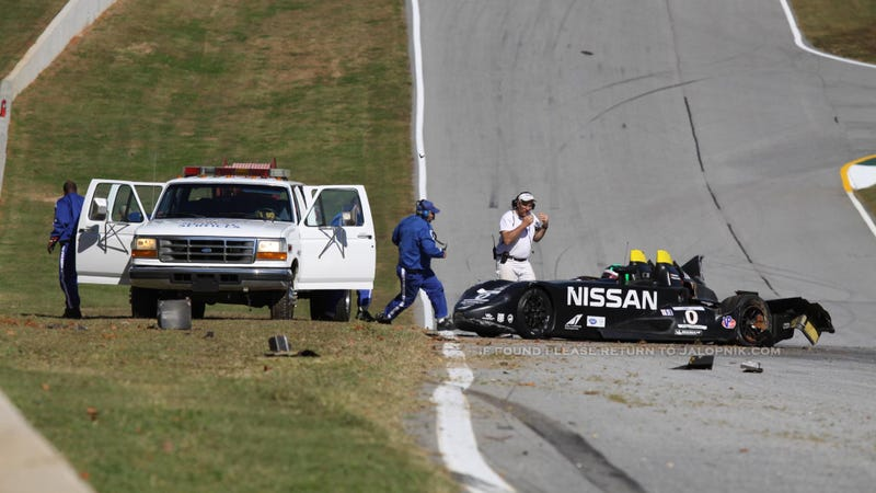 The World's Strangest Racecar Just Crashed, Again (UPDATE)