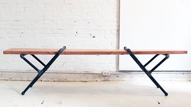 Build Industrial Furniture With Wood And Pipes