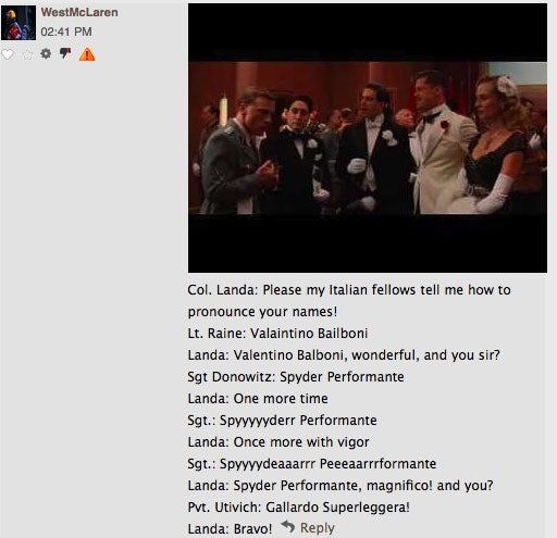 Commenter Of The Day: Quentin Tarantino's Top Gun Speech Edition