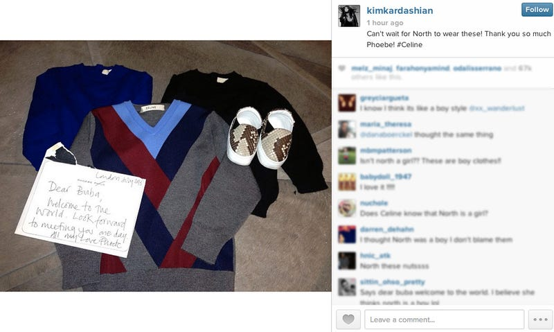 Kim and Kanye Showered With Free Designer Baby Clothes in Paris