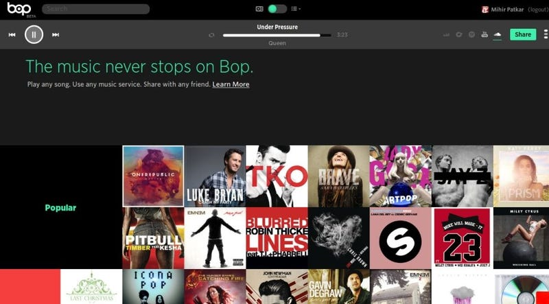 Bop.fm Cross-Links Songs from Spotify, Rdio, YouTube for Easy Sharing