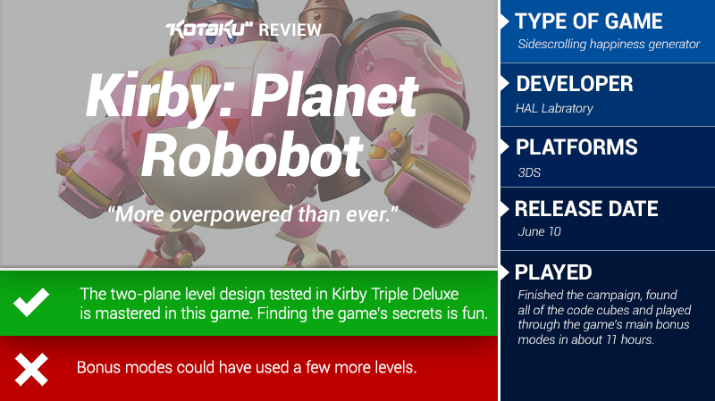 Kirby: Planet Robobot: The Kotaku Review