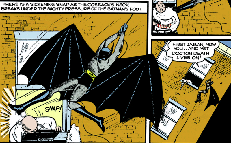 Golden Age Batman Didn't Rely on Just a Gun for Killing