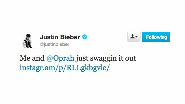 Justin Bieber Is Hanging Out with Oprah