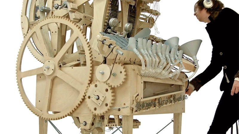 wintergatan marble machine instrument using 2000 marbles