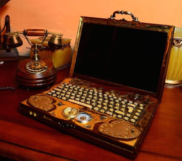 These Steampunk Computers Transport Us To The Victorian