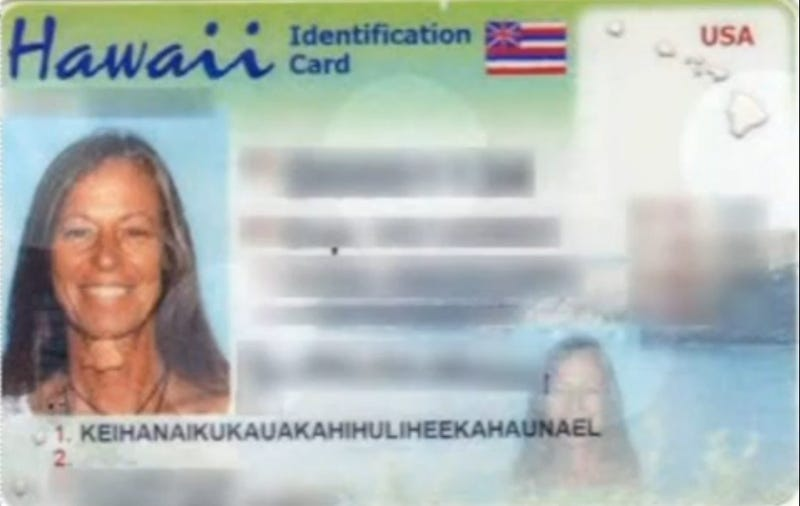Hawaii Truncates Woman's Crazy-Long Last Name So It Fits on ID