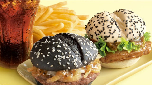 In China, McDonald's Makes Both a White Burger and a Black Burger