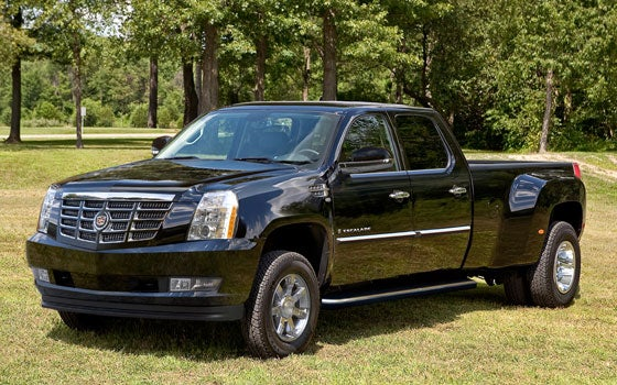 The 2012 Cadillac DRW Platinum Heavy-Duty is one giant blinged-out whip