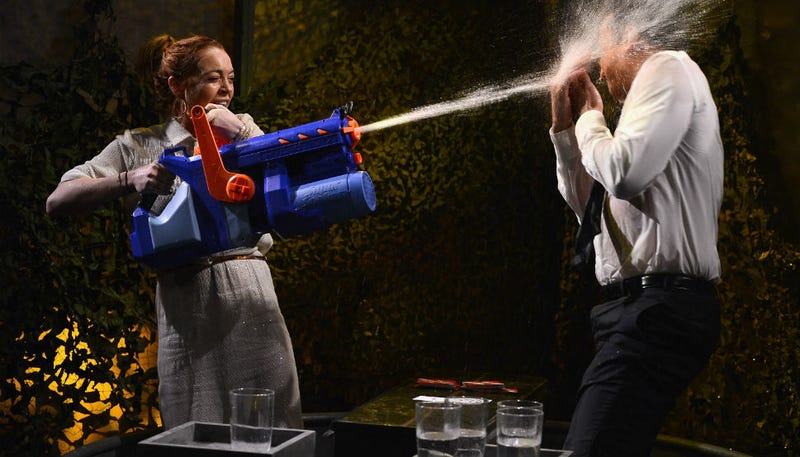 Watch Lindsay Lohan Get Water Thrown in Her Face By Jimmy Fallon
