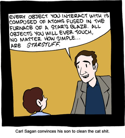Learning From Carl Sagan: Even Cat Sh*t Is Made of Starstuff