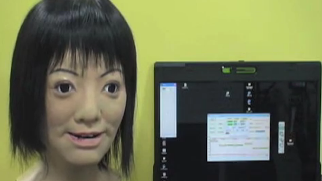 I Can't Listen to This Creepy Robot Head Sing Her Head Off