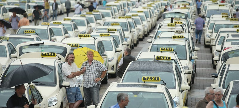 ​Anti-Uber Protests Promptly Blow Up In Taxi Drivers' Face