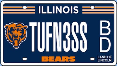 You Can Now Order Your Personalized Bears License Plate