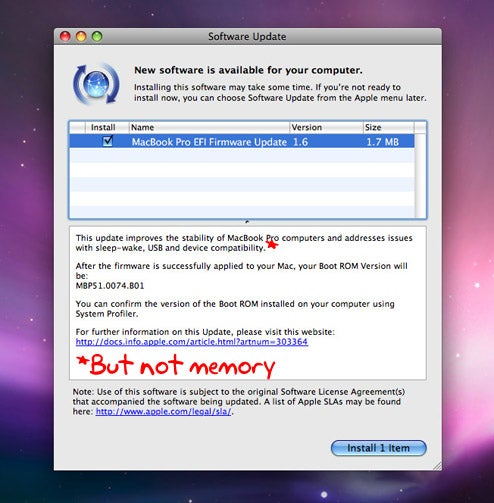 MacBook Firmware Update Doesn't Fix Cranky RAM Problems