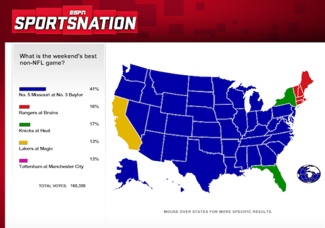 ESPN Asks, New York And Florida Answer: Nonexistent Knicks-Heat Game Is Best Non-NFL Game Of The Weekend