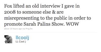 LL Cool J Will Not Be Meeting Sarah Palin