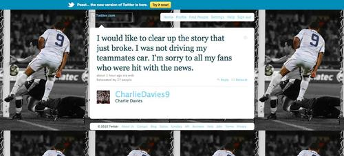An Open Letter To Soccer Player Charlie Davies (With Afternoon Update)