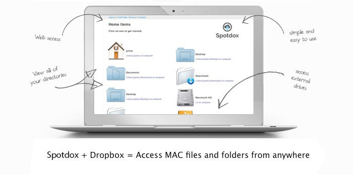 Maximize Dropbox for Mac with Spotdox for 66% off