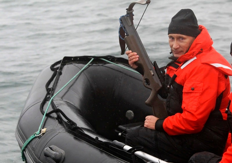 Vladimir Putin Reaches Limit of Badassery By Shooting Whale with Crossbow